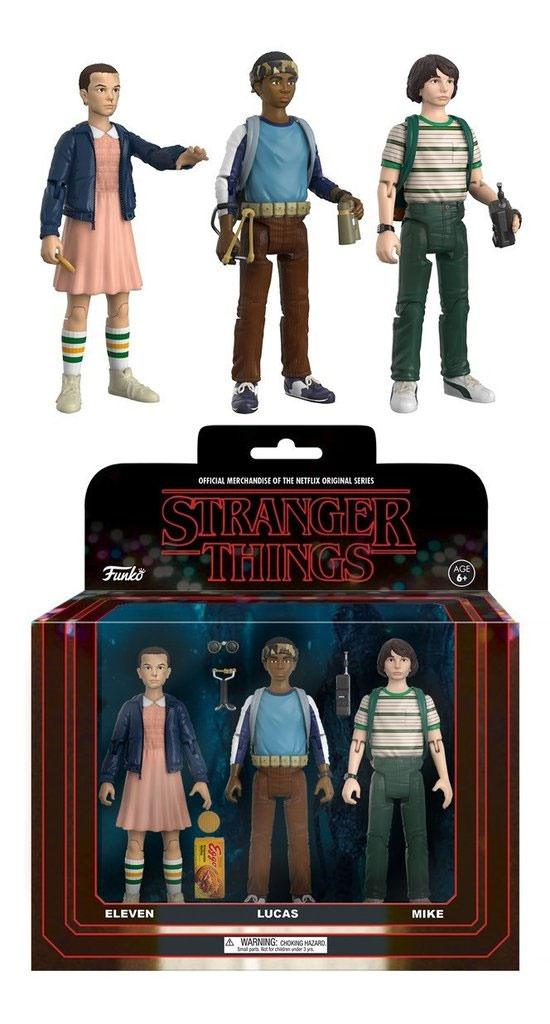 Stranger Things ReAction Action Figures 3-Pack Mike, Eleven & Lukas 14 cm