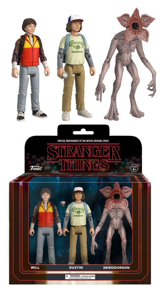 Stranger Things ReAction Action Figures 3-Pack Dustin, Will &  Demogorgon 14 cm