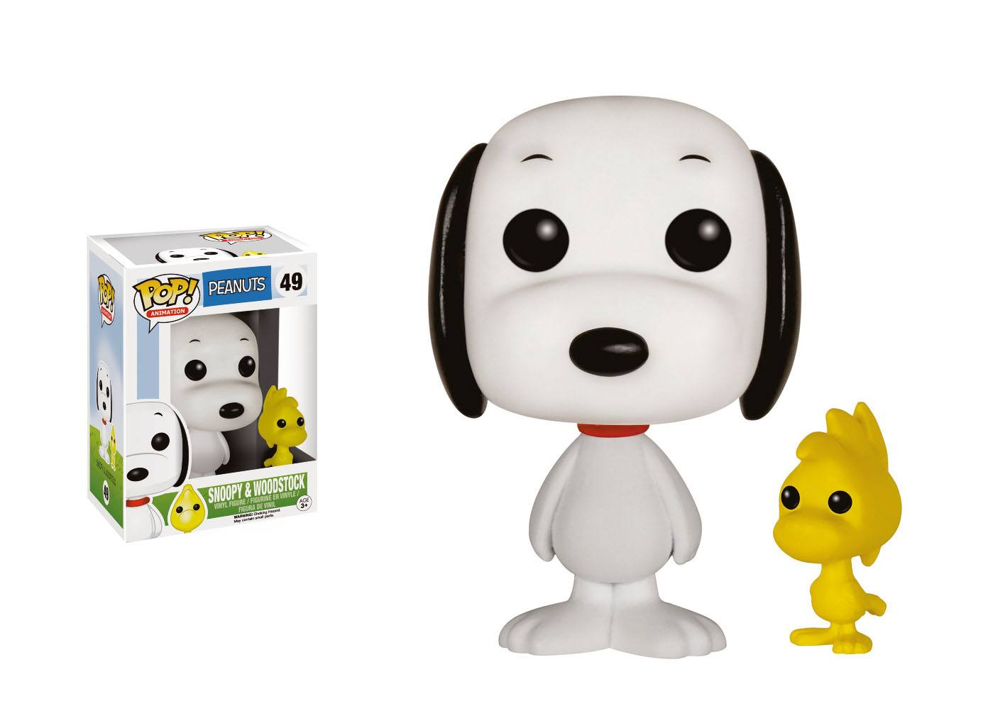 Peanuts POP! Animation Vinyl Figure Snoopy & Woodstock 9 cm