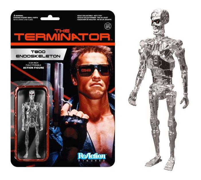 Terminator ReAction Action Figure Chrome T-800 Endoskeleton 10 cm