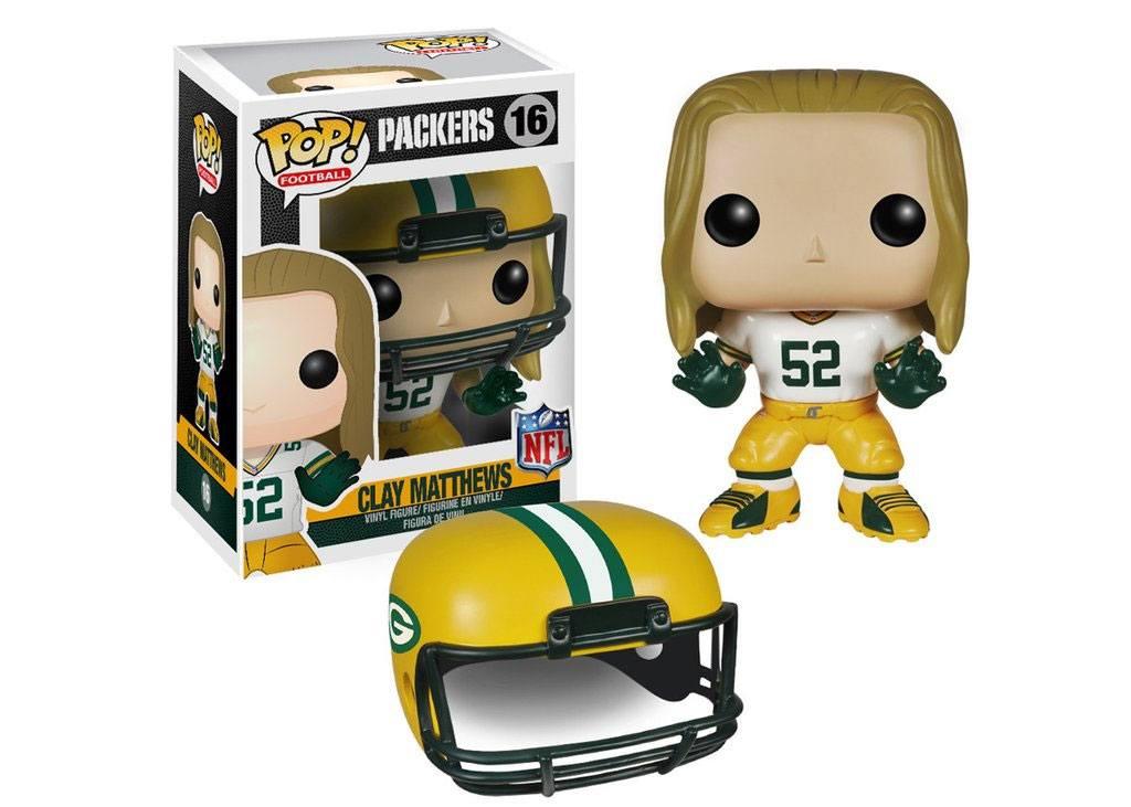 NFL POP! Football Vinyl Figure Clay Matthews (Packers) 9 cm