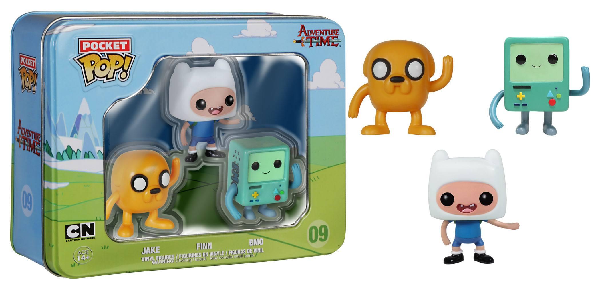 Adventure Time Pocket POP! Vinyl Figure 3-Pack Tin Finn, Jake, BMO 4 cm