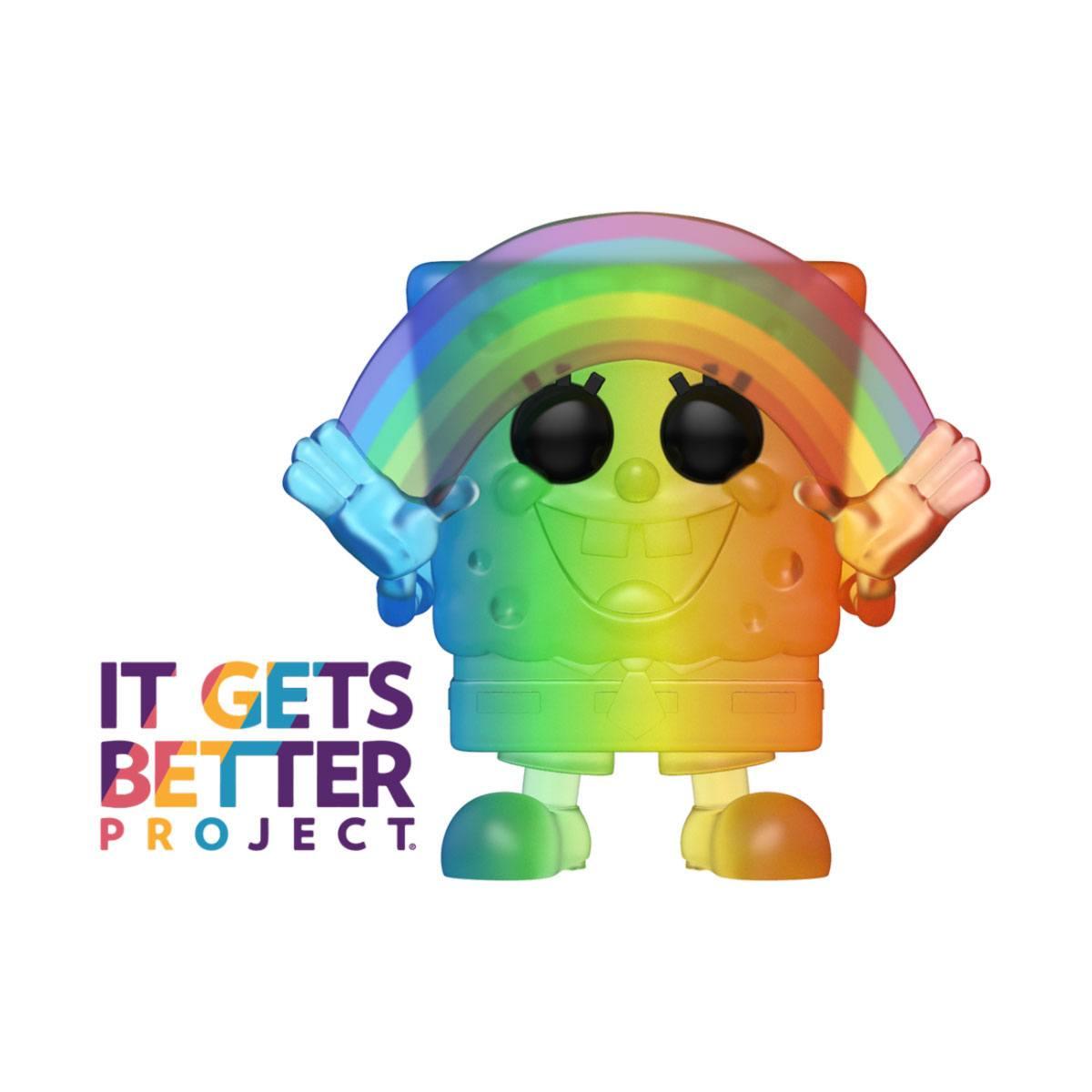 Pride 2020 SpongeBob SquarePants POP! Animation Vinyl Figure Spongebob (RNBW) 9 cm