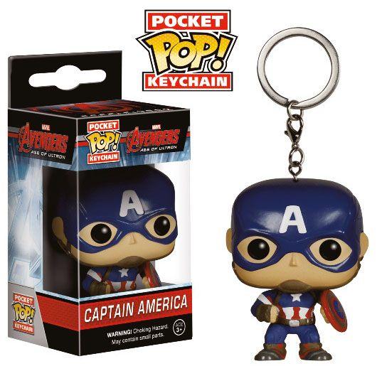 Avengers Age of Ultron POP! Vinyl Keychain Captain America 4 cm