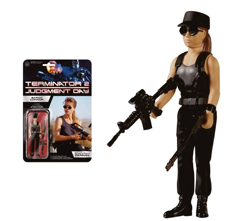 Terminator 2 ReAction Action Figure Sarah Connor 10 cm