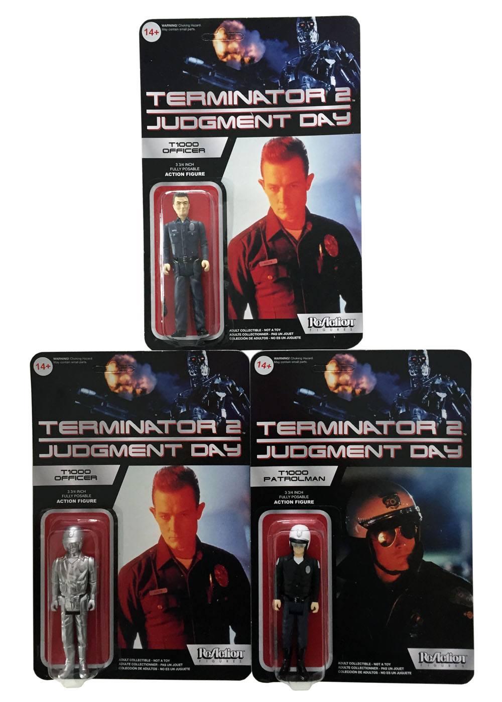 Terminator 2 ReAction Action Figures 10 cm T-1000 Assortment (6)