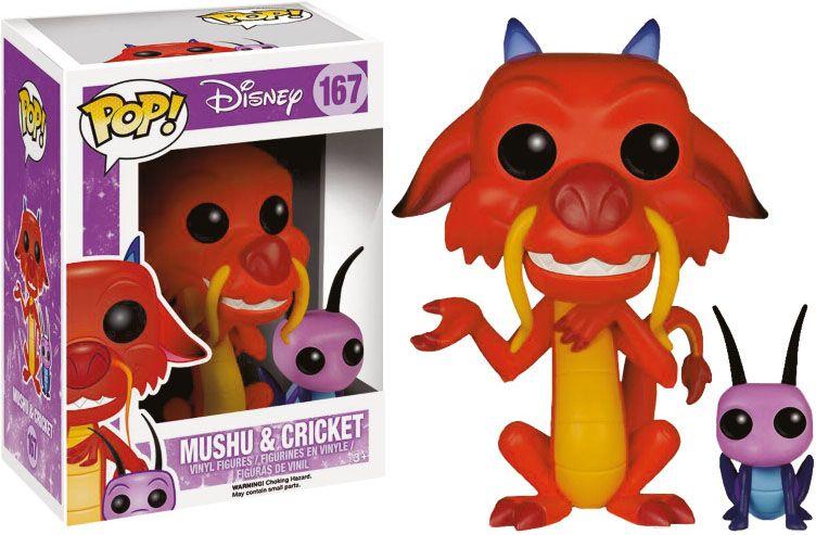 Mulan POP! Disney Vinyl Figure Mushu & Cri-Kee 7 cm