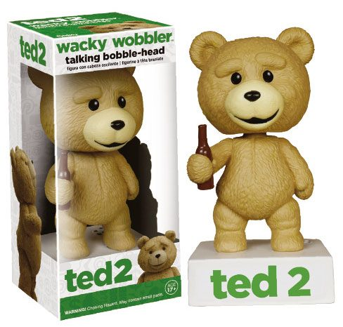 Ted 2 Wacky Wobbler Bobble-Head with Sound Talking Ted 15 cm