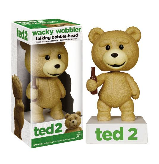 Ted 2 Wacky Wobbler Bobble-Head with Sound Talking Ted R Rated Ver. 15 cm