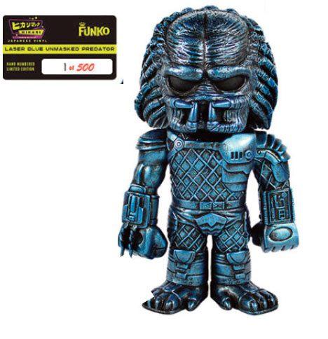 Predator Hikari Sofubi Vinyl Action Figure Laser Blue Unmasked Predator 19 cm