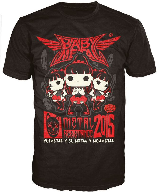 Babymetal POP! Tees T-Shirt Tour Poster Size XL