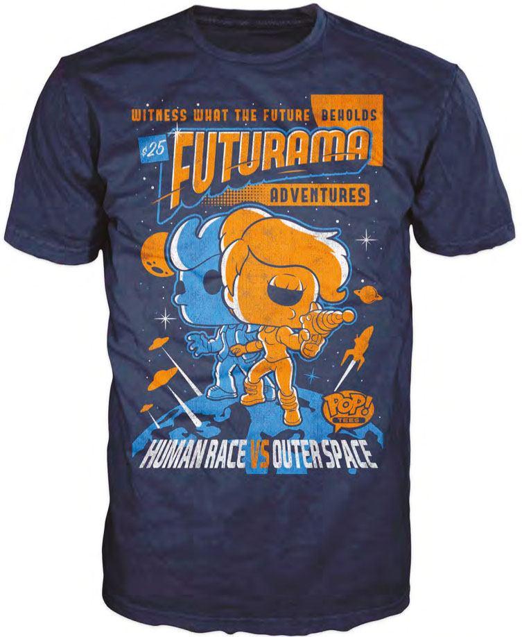 Futurama POP! Tees T-Shirt Adventure Poster Size XL
