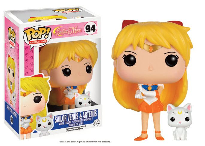 Sailor Moon POP! Animation Vinyl Figure Sailor Venus & Artemis 9 cm