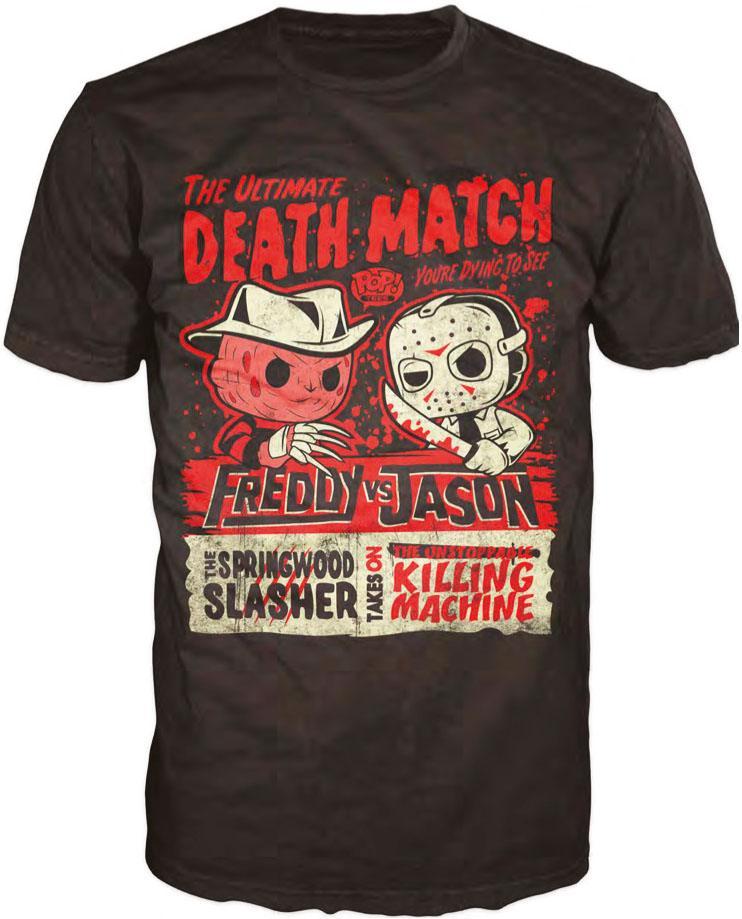 Freddy vs. Jason POP! Tees T-Shirt Death Match Size XL