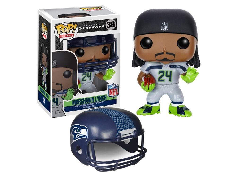 NFL POP! Football Vinyl Figure Marshawn Lynch (Seattle Seahawks) 9 cm