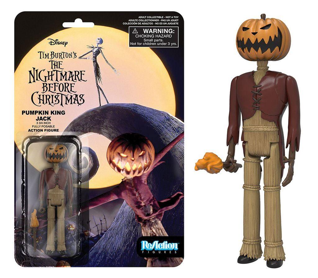 Nightmare Before Christmas ReAction Action Figure Pumpkin King Jack 10 cm