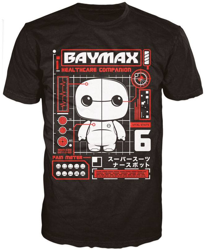 Big Hero 6 POP! Tees T-Shirt The Baymax Tech Size XL