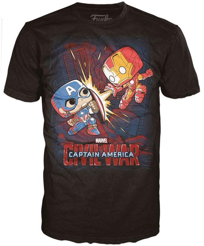 Marvel Comics POP! Tees T-Shirt Civil War - Fight! Size M