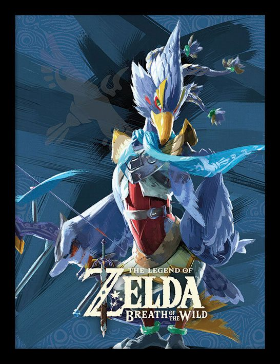 Legend of Zelda Breath of the Wild Framed Poster Divine Beast Vah Medoh 45 x 33 cm