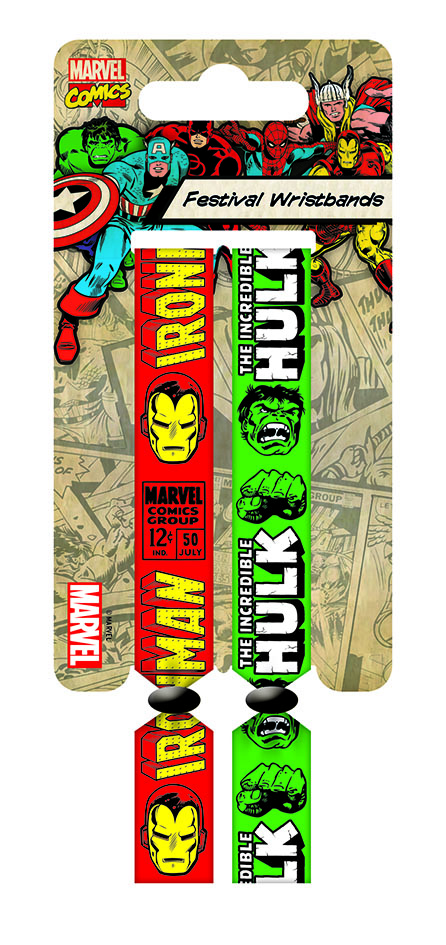 Marvel Comics Festival Wristband 2-Pack Iron Man & Hulk