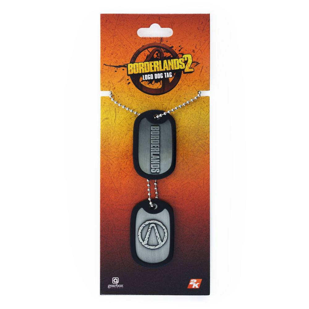 Borderlands Dog Tags with ball chain Logo