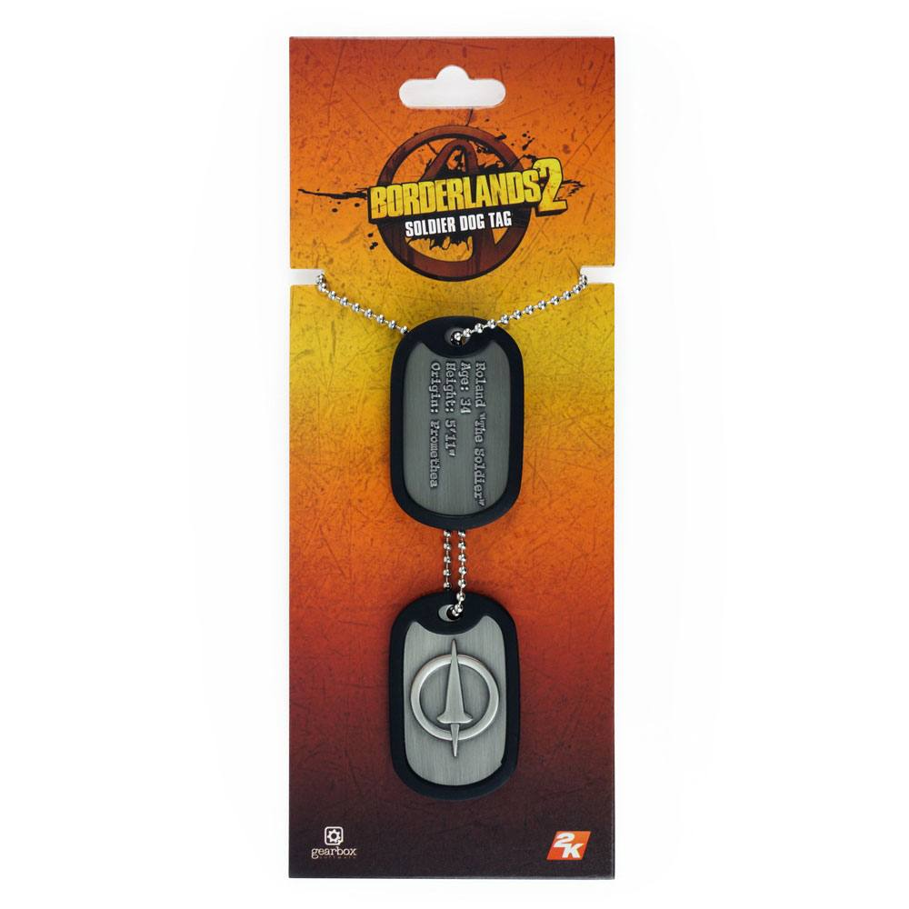 Borderlands Dog Tags with ball chain Soldier