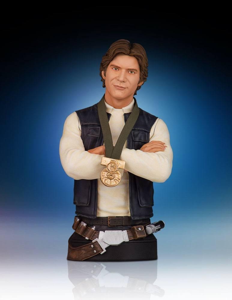 Star Wars Bust 1/6 Han Solo Hero of Yavin 18 cm --- DAMAGED PACKAGING