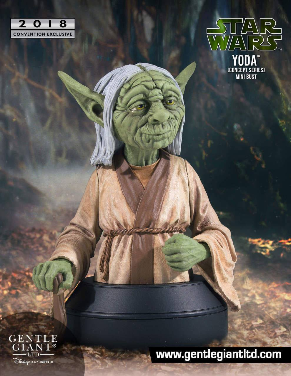 Yoda Concept Series SDCC 2018 Exclusive Star Wars 1/6 Scale Bust by Gentle Giant