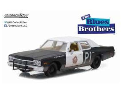 Blues Brothers Diecast Model 1/24 1974 Dodge Monaco