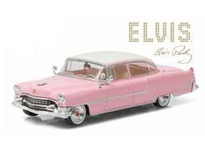 Elvis Presley Diecast Model 1/43 1955 Cadillac Fleetwood pink with white roof