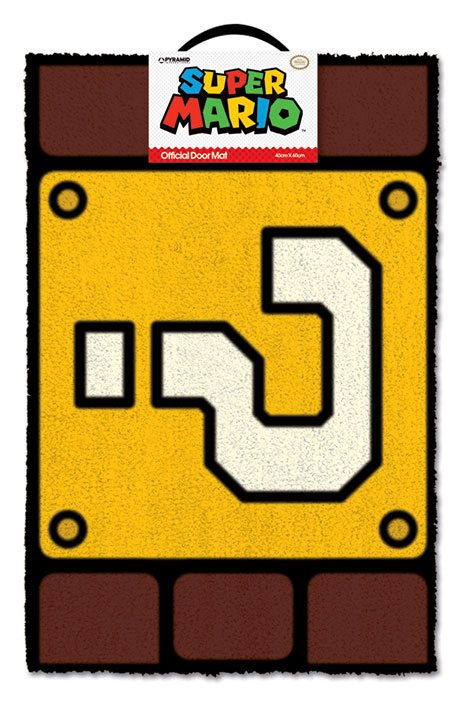Super Mario Doormat Question Mark Block 40 x 60 cm