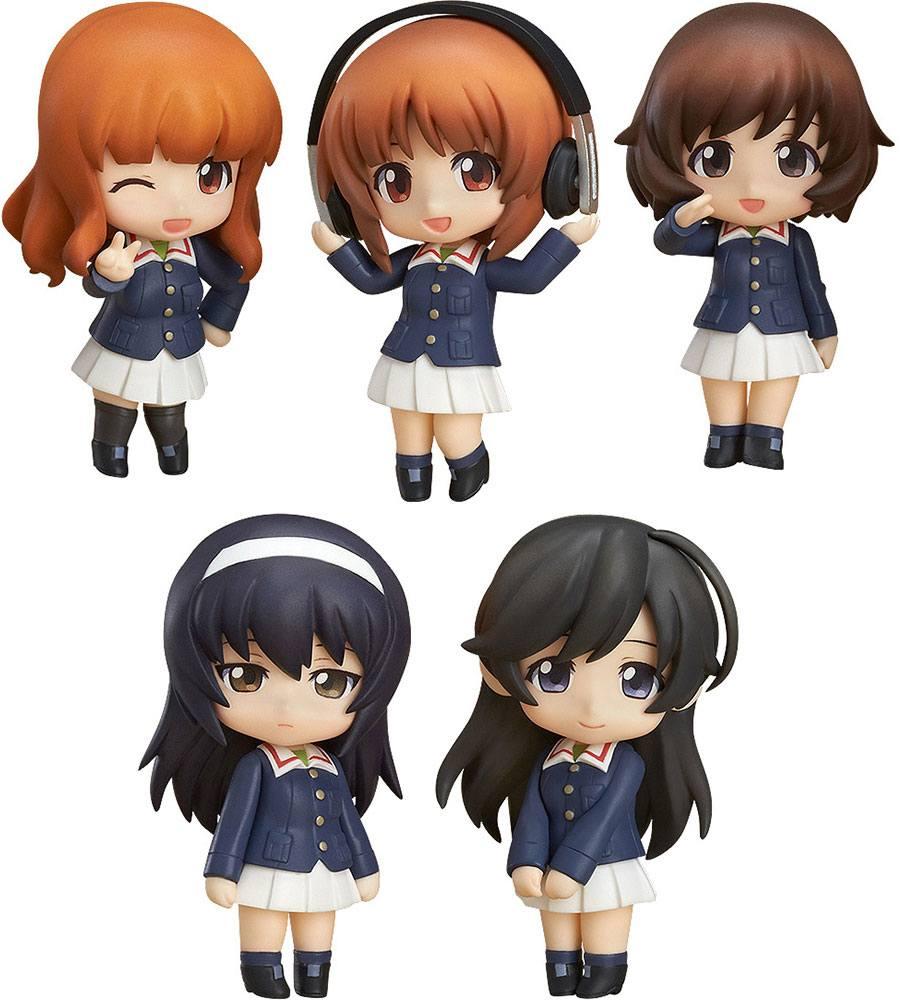 Girls und Panzer der Film Mini Figures Nendoroid Petite 5-Set Ankou Team Ver. 7 cm