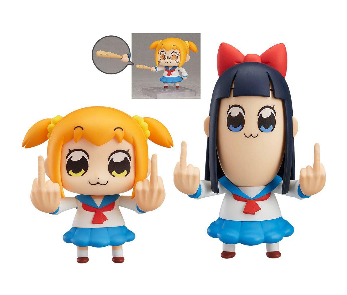Pop Team Epic Nendoroid Action Figure Set with Bonus Popuko & Pipimi 7 - 11 cm