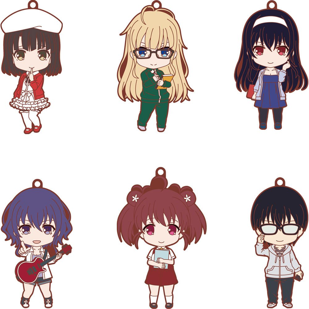 Saekano Nendoroid Plus Rubber Charms 7 cm Assortment (6)