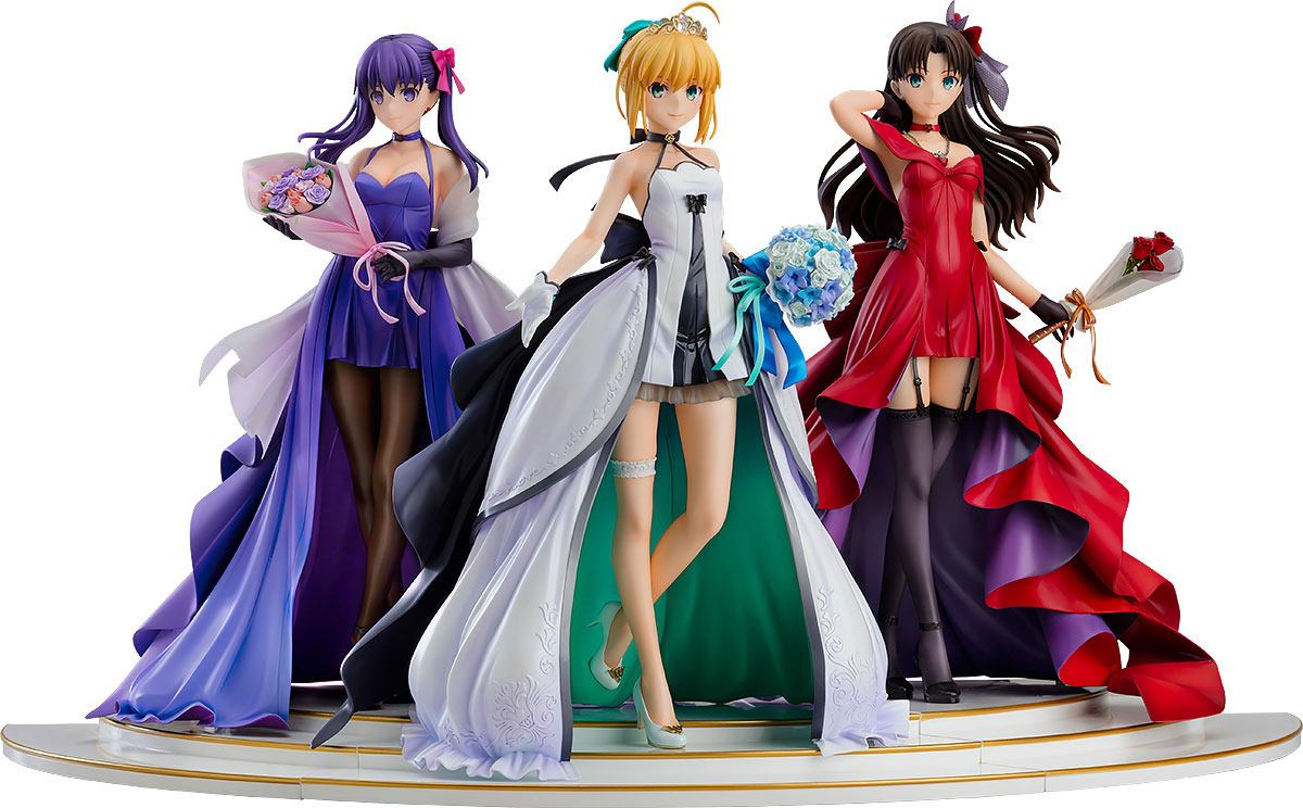 Set Fate Stay Night Saber Tohsaka Rin Sakura Matou One Piece Style 1//8 Figure