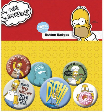 Simpsons Pin Badges 6-Pack Homer