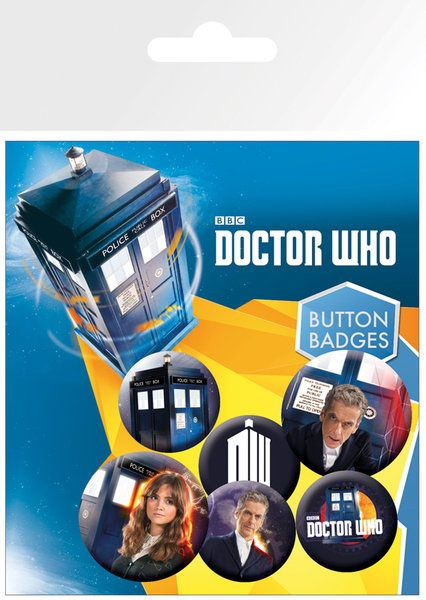 Doctor Who Pin Badges 6-Pack New