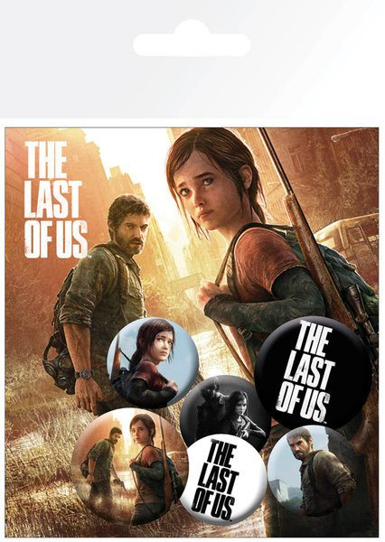 The Last Of Us Pin Badges 6-Pack Ellie and Joel