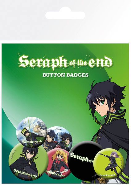 Seraph of the End Pin Badges 6-Pack Mix