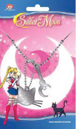 Sailor Moon Dog Tags with ball chain Luna