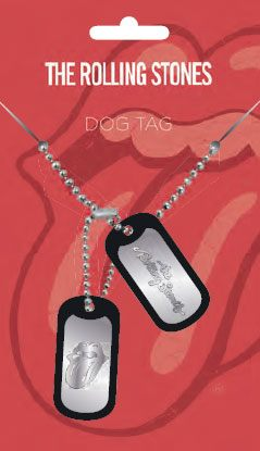 Rolling Stones Dog Tags with ball chain Tongue