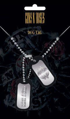 Guns n' Roses Dog Tags with ball chain Logo