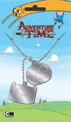 Adventure Time Dog Tags with ball chain Finn & Jake