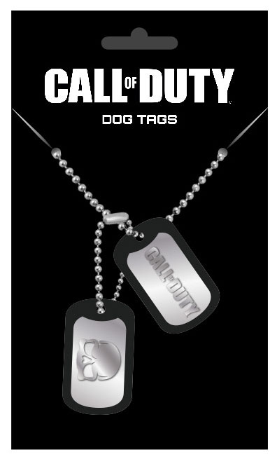 Call of Duty Dog Tags with ball chain Logo