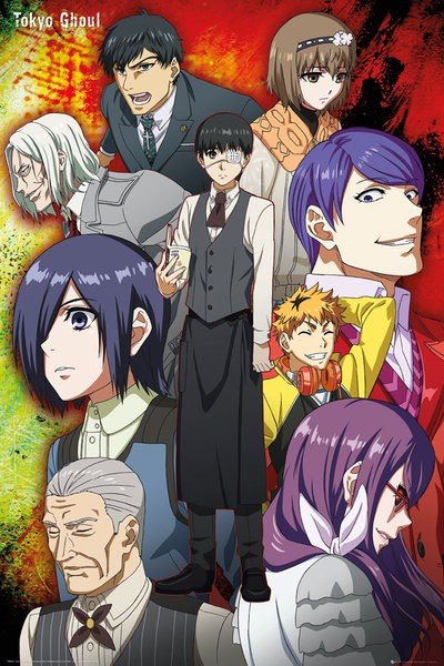 Tokyo Ghoul Poster Pack Group 61 x 91 cm (5)