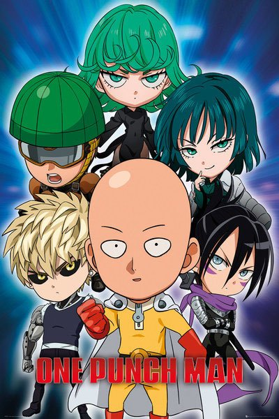 One Punch Man Poster Pack Chibi 61 x 91 cm (5)