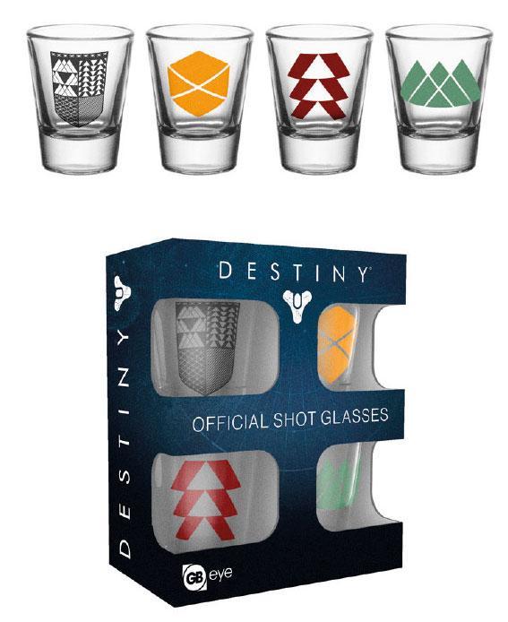 Destiny Shotglass 4-Pack Classes