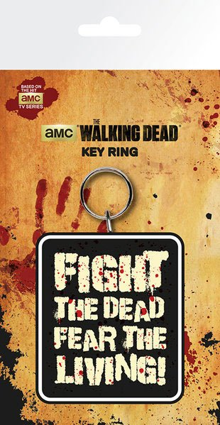 Walking Dead Rubber Keychain Fight The Dead 7 cm