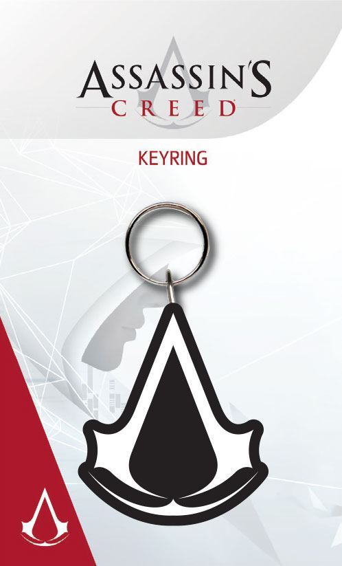 Assassin's Creed Rubber Keychain Logo 7 cm