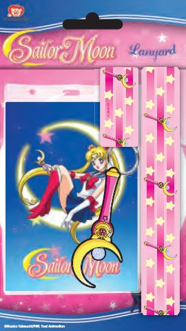 Sailor Moon Lanyard with Rubber Keychain Moon Stick